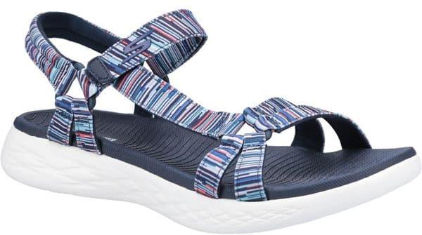 Skechers On The Go 600 Electric Sandal Ladies Summer Navy / Multi